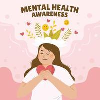 Mental Health Awareness Concept vector