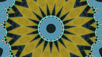 Circular abstract kaleidoscope background video
