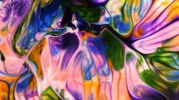 Abstract Colorful Ink Spread video