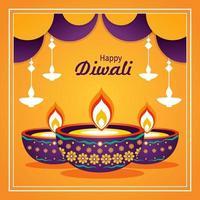 Yellow Diwali Background vector