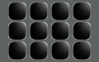 elegant button monochrome element template vector