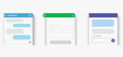 A pop-up online window to help the user. The messenger vector