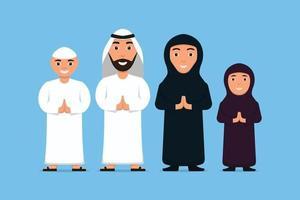 Collection Flat Character Arab Ramadhan Kareem vector