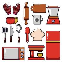 a set of kitchen tool vector