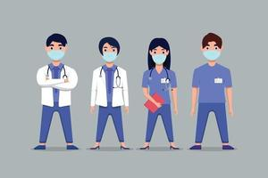 set the character of medical vector
