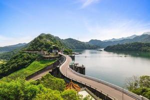 Shimen Dam and Shihmen Reservoir at Taoyuan city in Taiwan photo