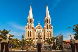 Entrance of Saint Mary's Cathedral located at Yangon in Myanmar photo