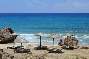 Falassarna red sand beach Kissamos Creta island summer holidays season photo