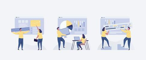 business concepts of entrepreneurs. Concepts for web design vector
