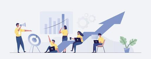 reunión de negocios. reunión de trabajo en equipo. vector