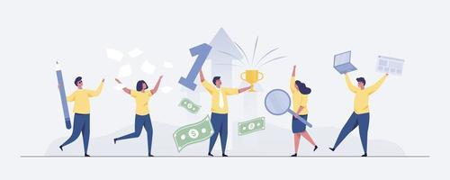 Business team success concept Vector illustration.