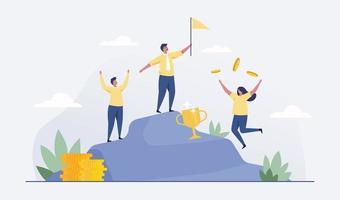 Successful business team concept.  illustration Vector