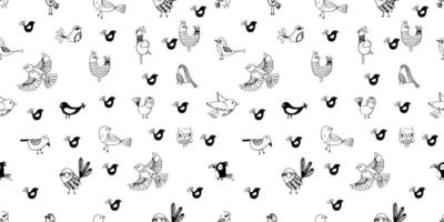 seamless vector image of fowl, birds and others