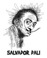 scribble art salvador dali vector image