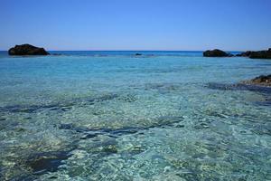 playa kedrodasos isla de creta laguna azul acampar costa aguas cristalinas foto