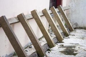 A wooden ladder photo