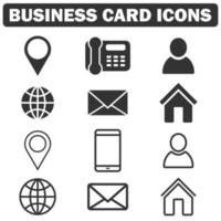 Business Card Icon collection vector