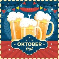 Oktoberfest Beer Glass Concept vector