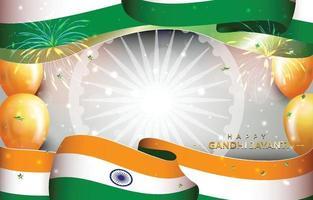 Gandhi Jayanti Background vector