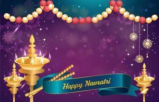Happy Navratri Background vector