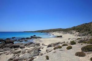 Kedrodasos beach creta island blue lagoon crystal waters and corals photo