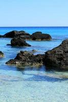 Playa kedrodasos isla de Creta Grecia laguna azul aguas cristalinas corales foto