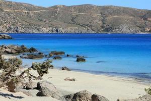laguna azul playa kedrodasos isla de creta kissamos costa rocosa aguas foto