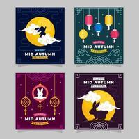 Mid Autumn Festival Card vector
