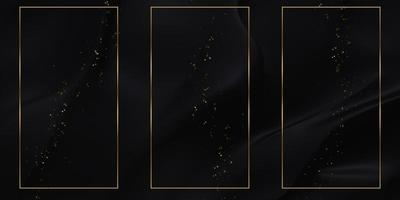 Golden text frame background with shiny stripes photo
