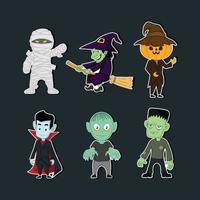 Halloween Party Monster Sticker vector