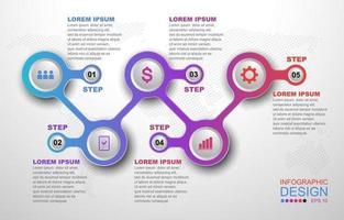 Infographic Step Progress vector