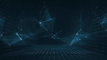 Abstract Digital Plexus Geometrical Background Loop video