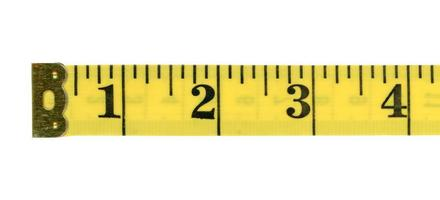 Tape measure ruler with imperial units photo