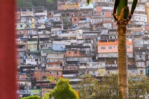 tugurio de rocinha en río de janeiro, brasil. foto