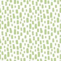 Green white hand drawn abstract seamless pattern vector
