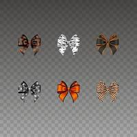 Set of isolated halloween bows vector