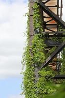 Zona de antigua fábrica industrial abandonada Landschaftpark Duisburg Nord foto