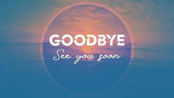 Goodby Ttitle Graphics And Ocean waves video