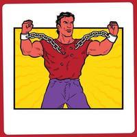 Broken handcuff Freedom pop art illustration vector