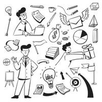 People and icons for the marketing agency website vector