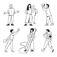 People activities for the marketing agency website vector