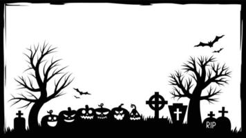 Halloween party invitations or greeting cards banner Halloween vector