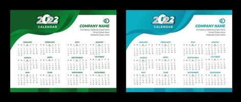 2022 Calendar Template Wall Calendar 2022 Vector Desk Calendar Design