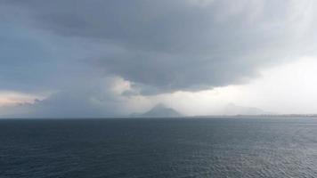 Time Lapse of A Storm at Antalya City Turkey video