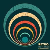 Retro design poster with vintage grunge texture vector