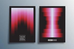 Minimal gradient design for poster, flyer, brochure cover vector