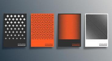 Geometric minimal design for flyer, poster, brochure cover, background vector