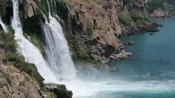 Duden Waterfall in Super Slow Motion at Antalya Turkey video