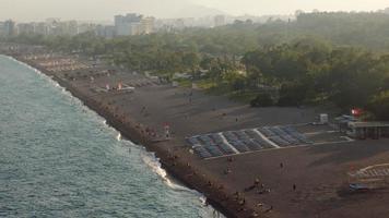 The Beach of Konyaalti at Antalya in Slow Motion video