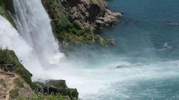 Duden Waterfall At Antalya in Super Slow Motion video